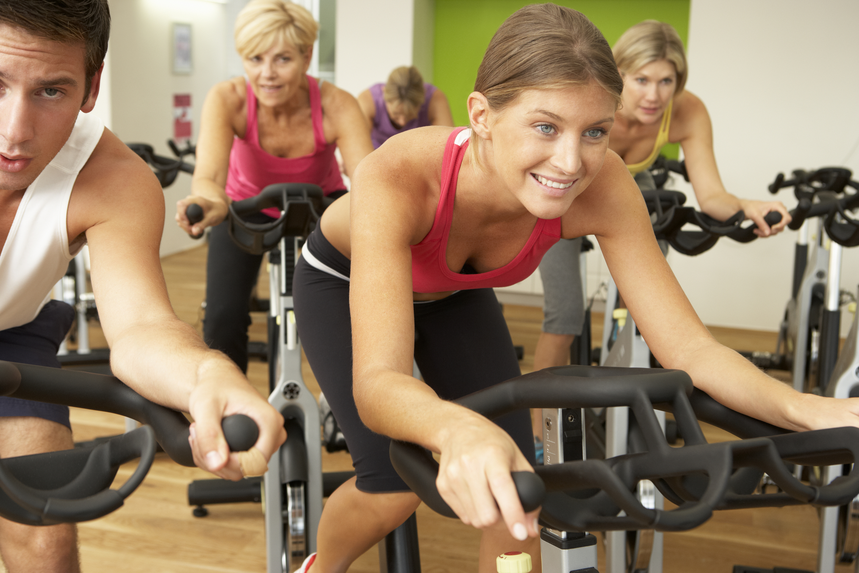 Woman Taking Bi-weekly Group X Spinning Classes