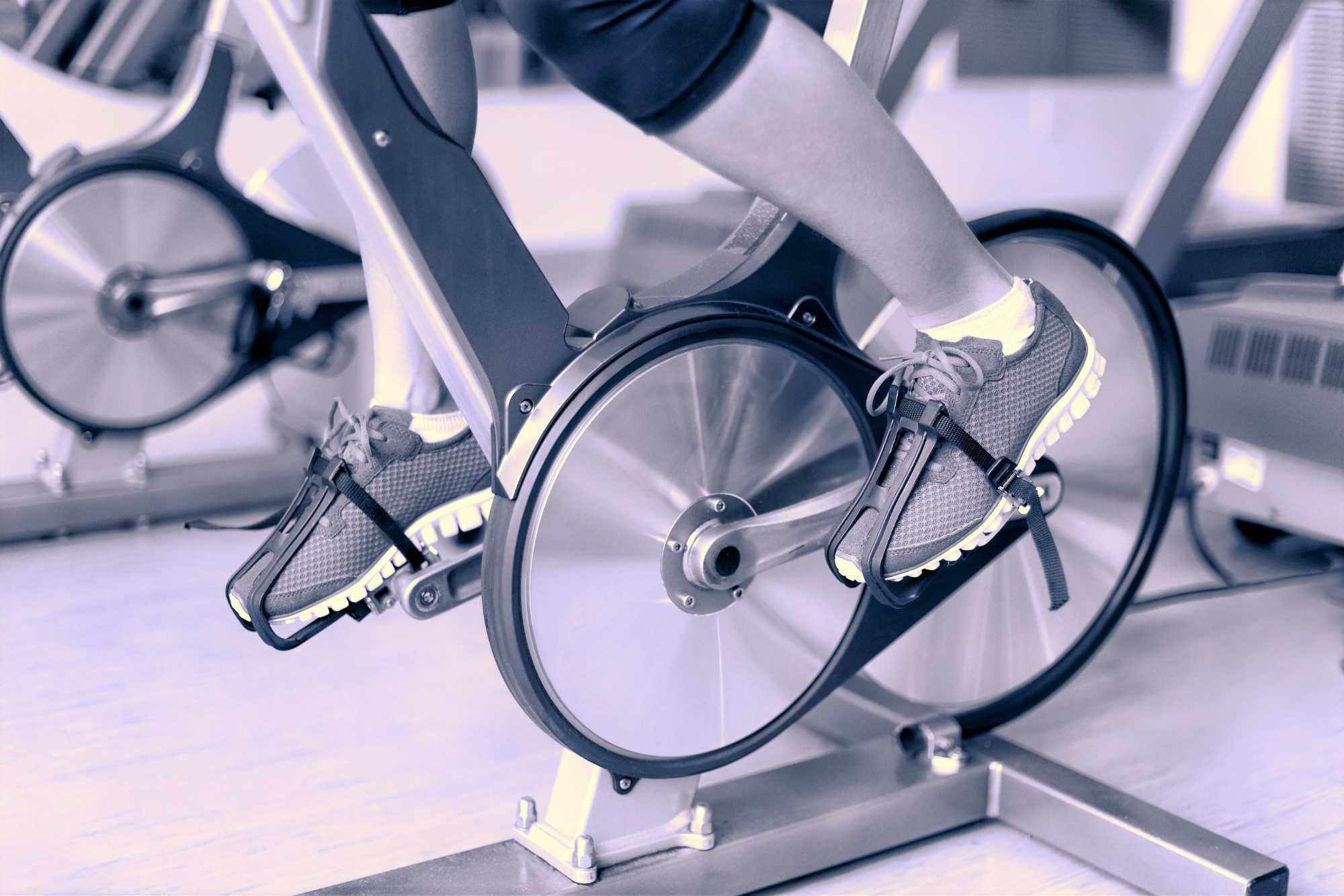 Indoor cycling bike consoles